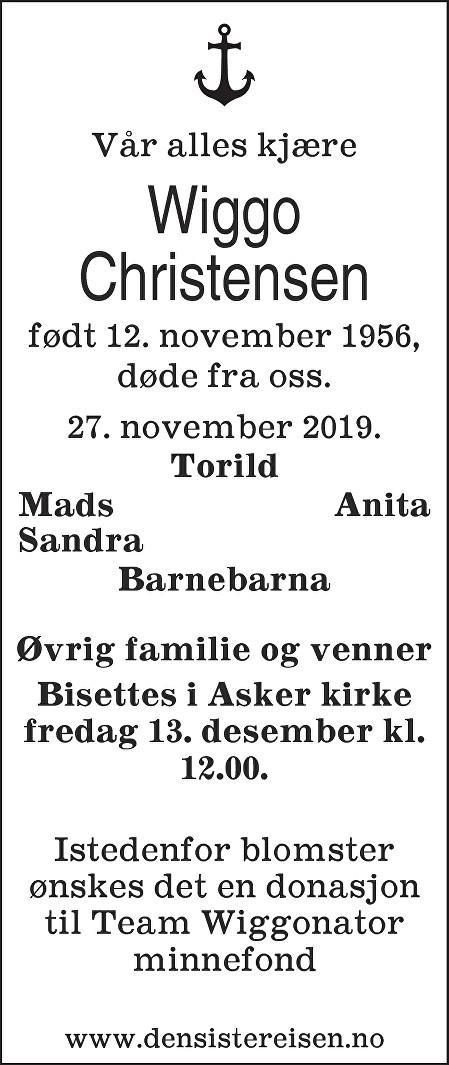 Wiggo Christensen Dødsannonse