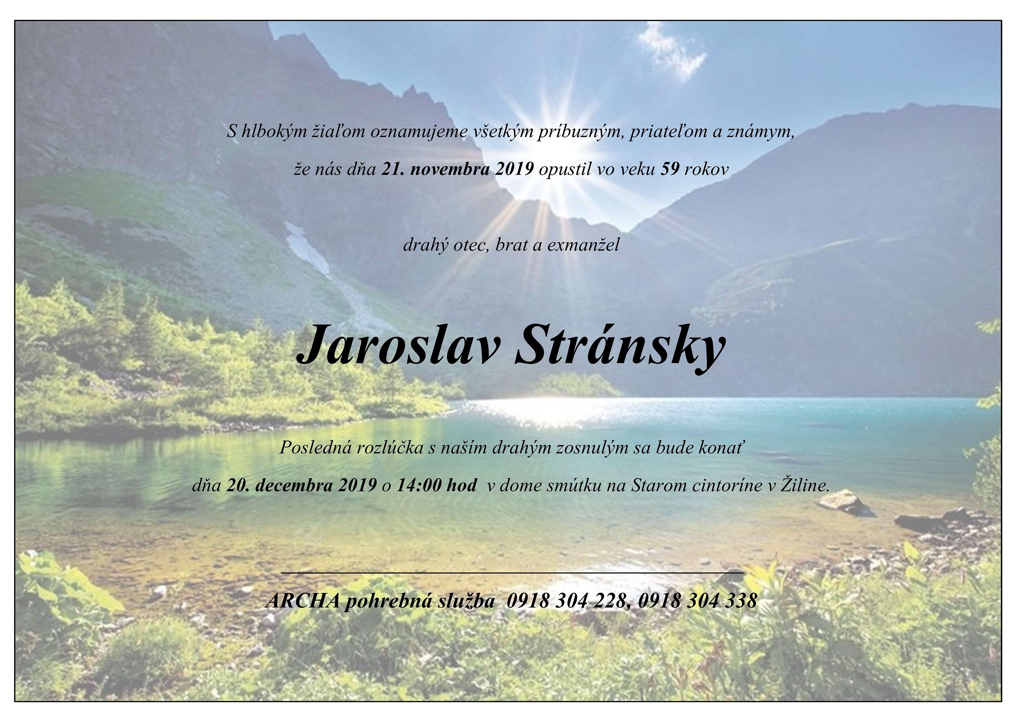 Jaroslav Stránsky Parte