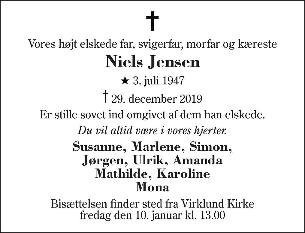 Niels  Jensen Death notice