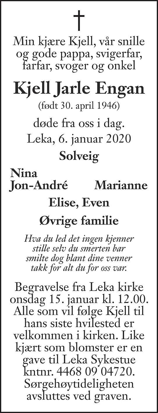 Kjell Jarle Engan Dødsannonse