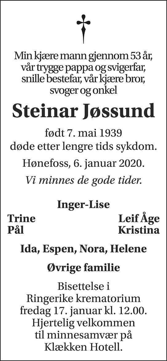 Steinar Jøssund Dødsannonse
