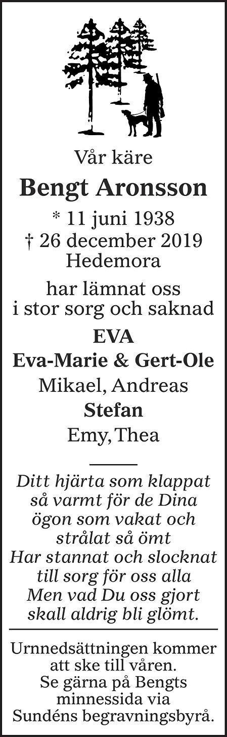 Bengt Aronsson Death notice