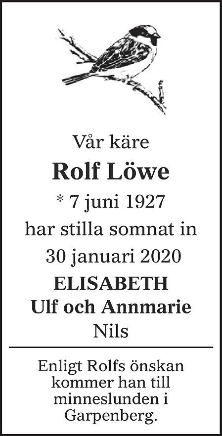 Rolf Löwe Death notice