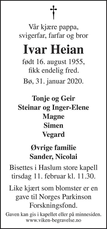 Ivar Heian Dødsannonse