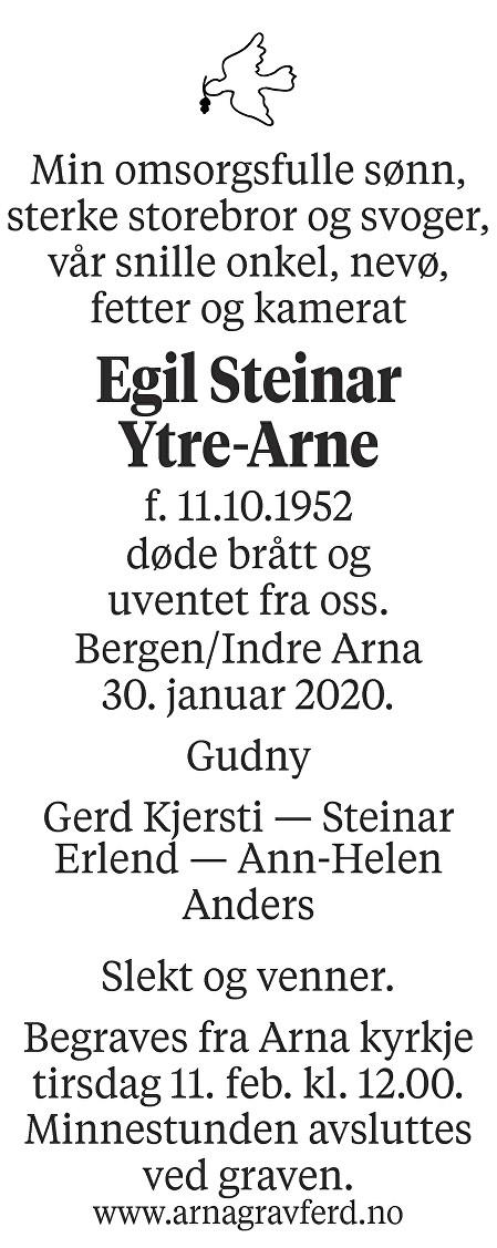 Egil Steinar  Ytre-Arne Dødsannonse