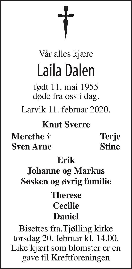 Laila Dalen Dødsannonse
