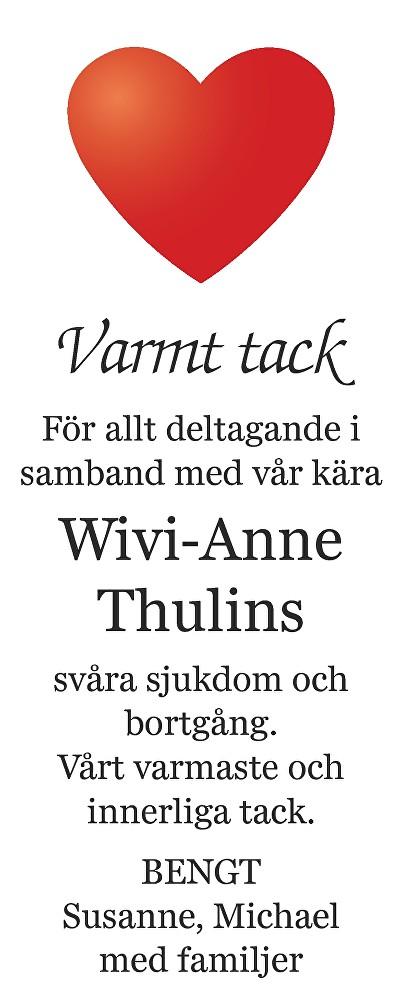 Wivi-Anne Thulin Death notice