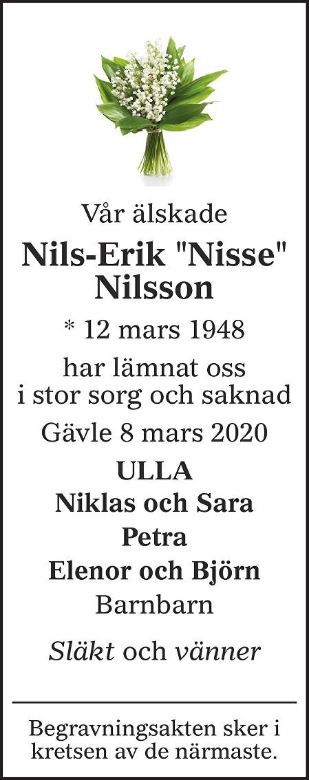 """Nils-Erik """"Nisse"""" Nilsson Death notice"""