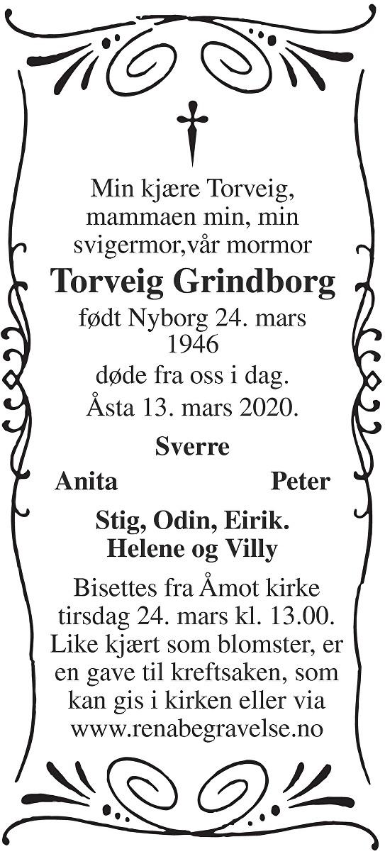 Torveig Grindborg Dødsannonse