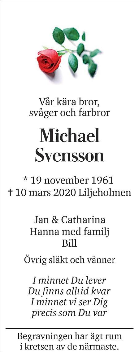 Michael Svensson Death notice