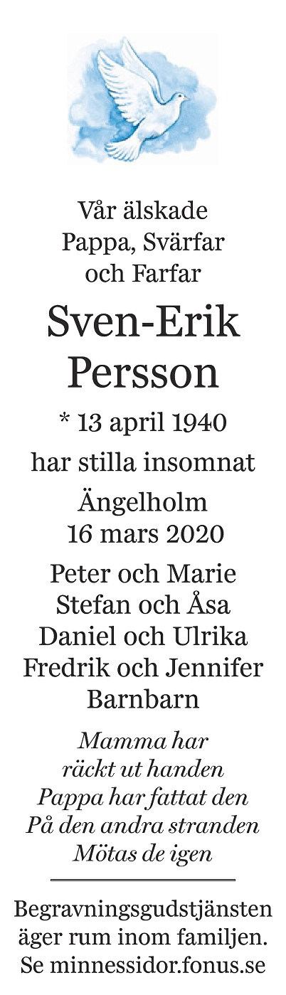 Sven-Erik Persson Death notice