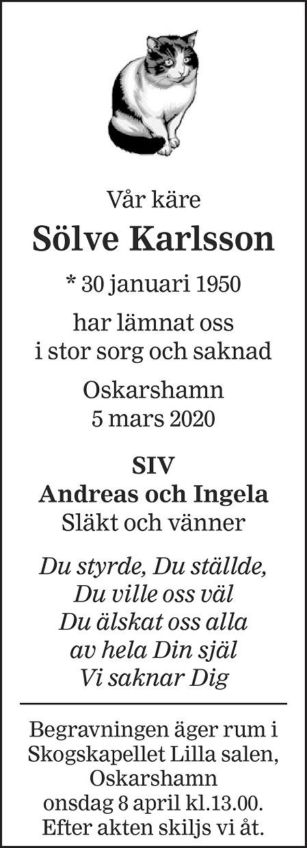 Sölve Karlsson Death notice