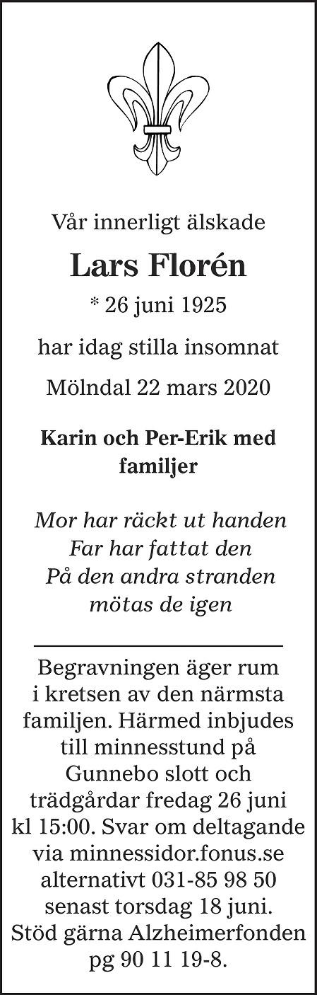 Lars Ivar Florén Death notice
