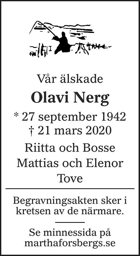 Olavi Nerg Death notice