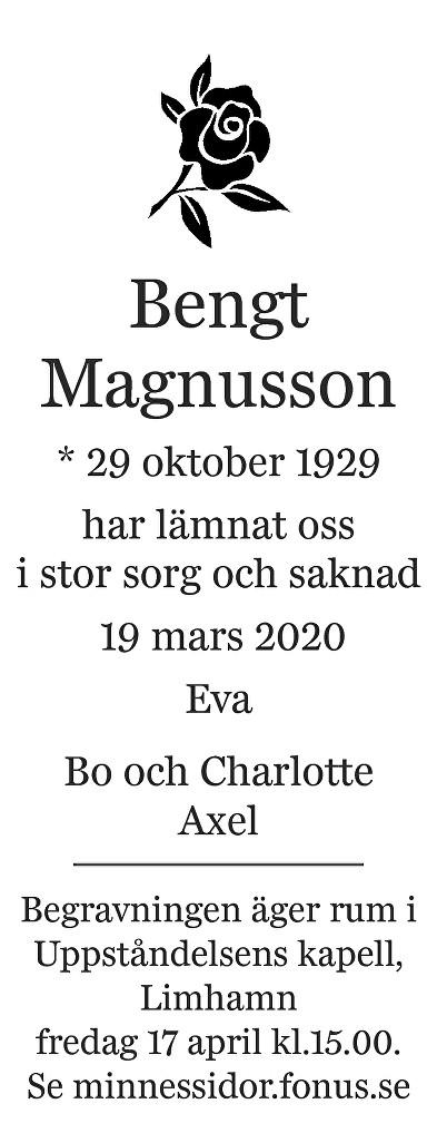 Bengt Magnusson Death notice