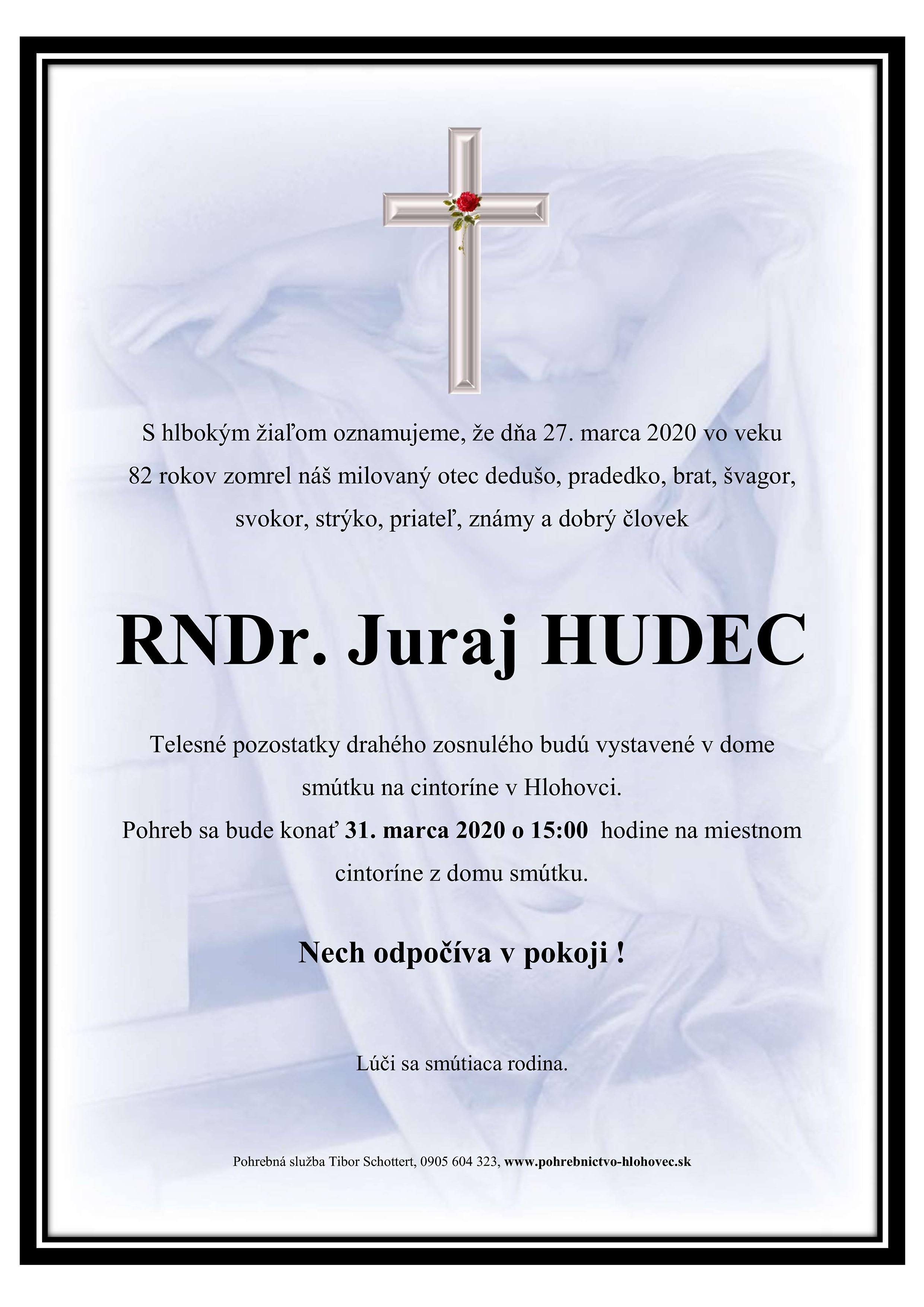 RNDr. Juraj Hudec Parte