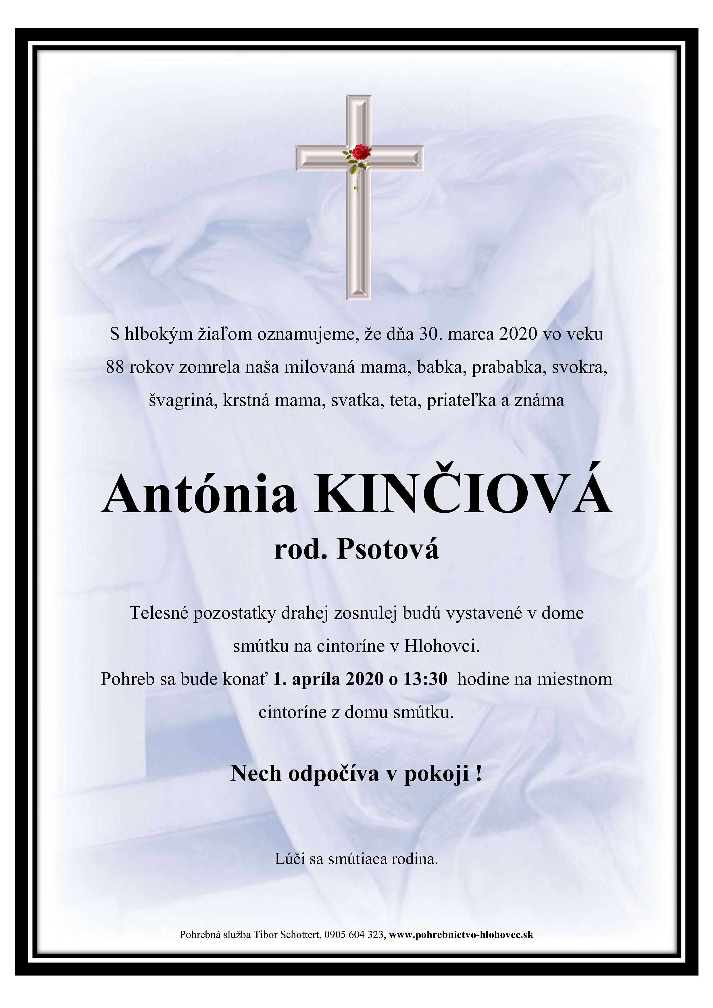 Antónia Kinčiová Parte