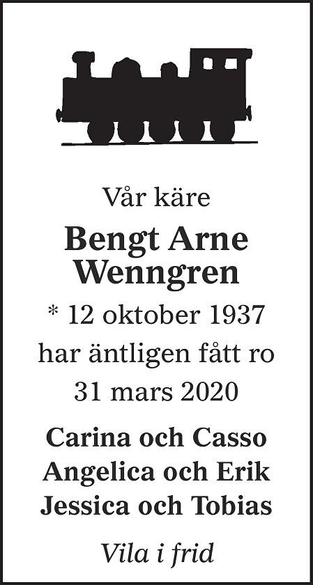 Bengt Arne Wenngren Death notice