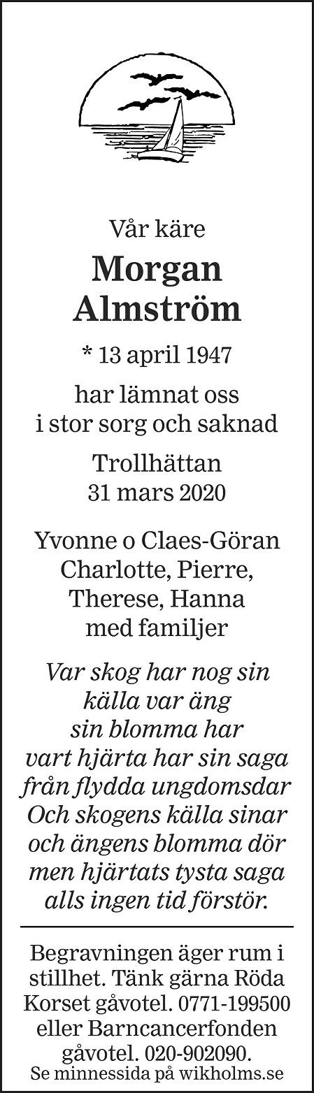 Morgan Almström Death notice