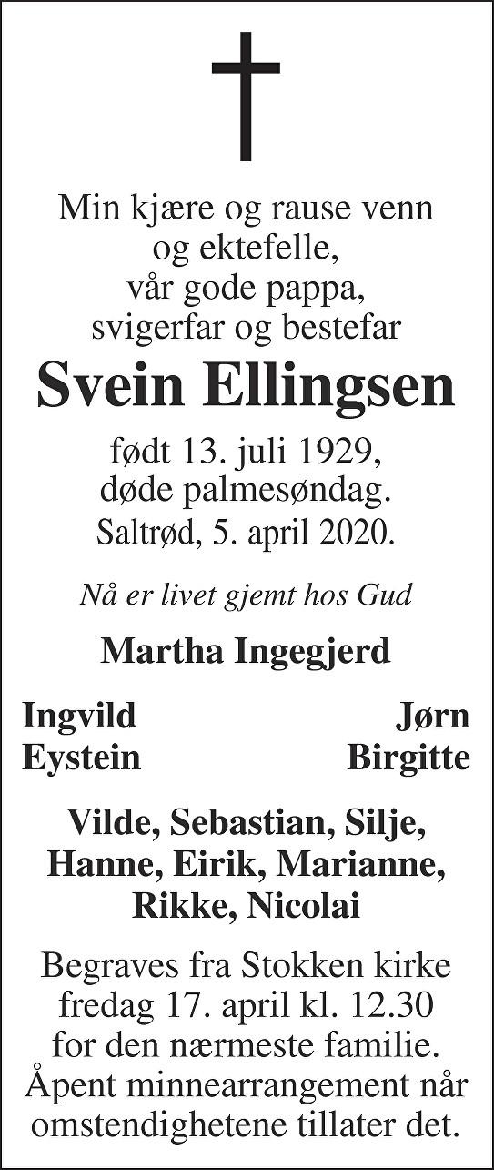 Svein Ørnulf Ellingsen Dødsannonse