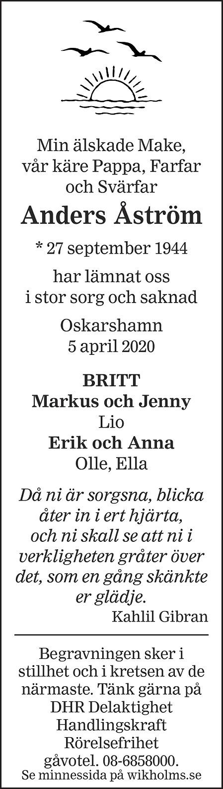 Anders Åström Death notice