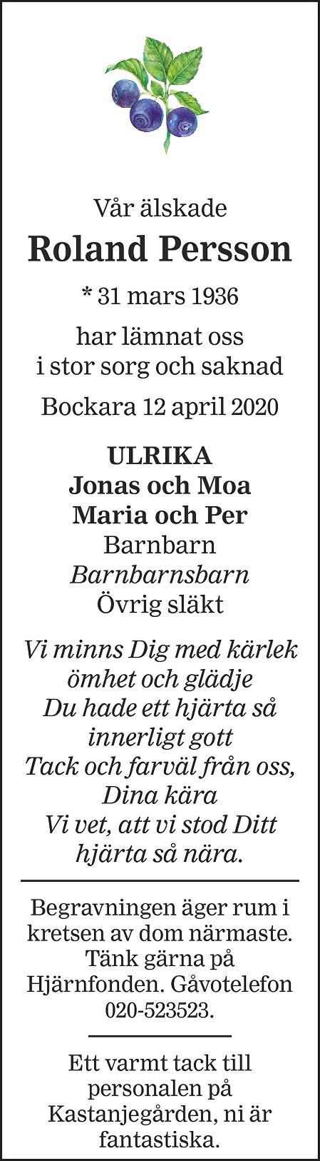 Roland Persson Death notice