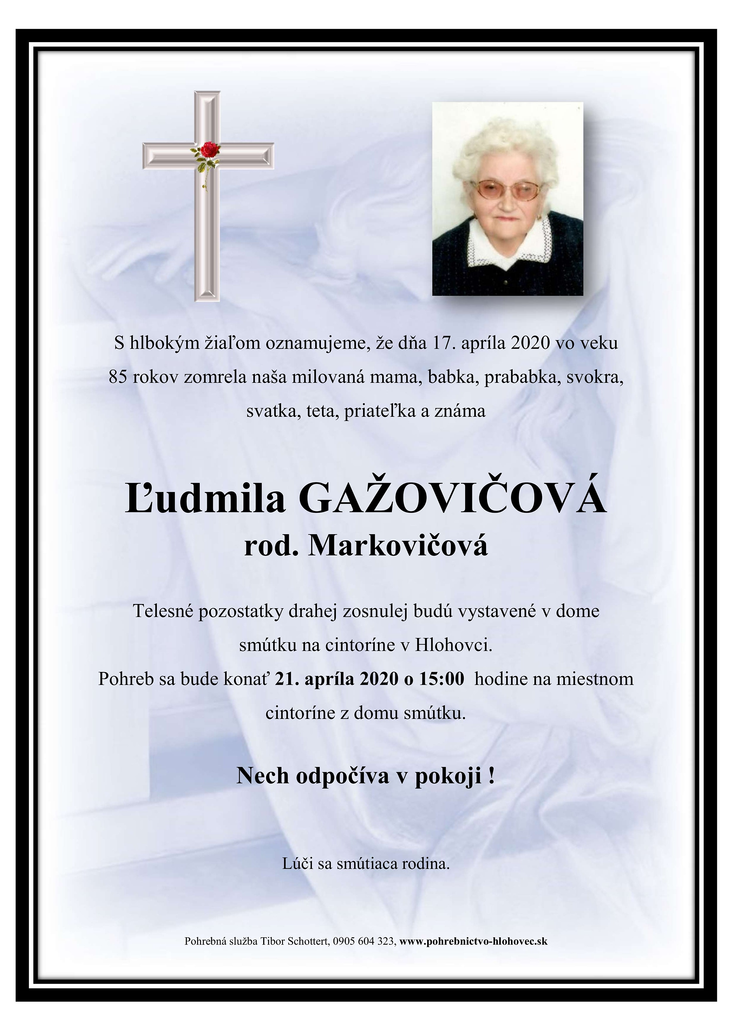 Ľudmila Gažovičová Parte