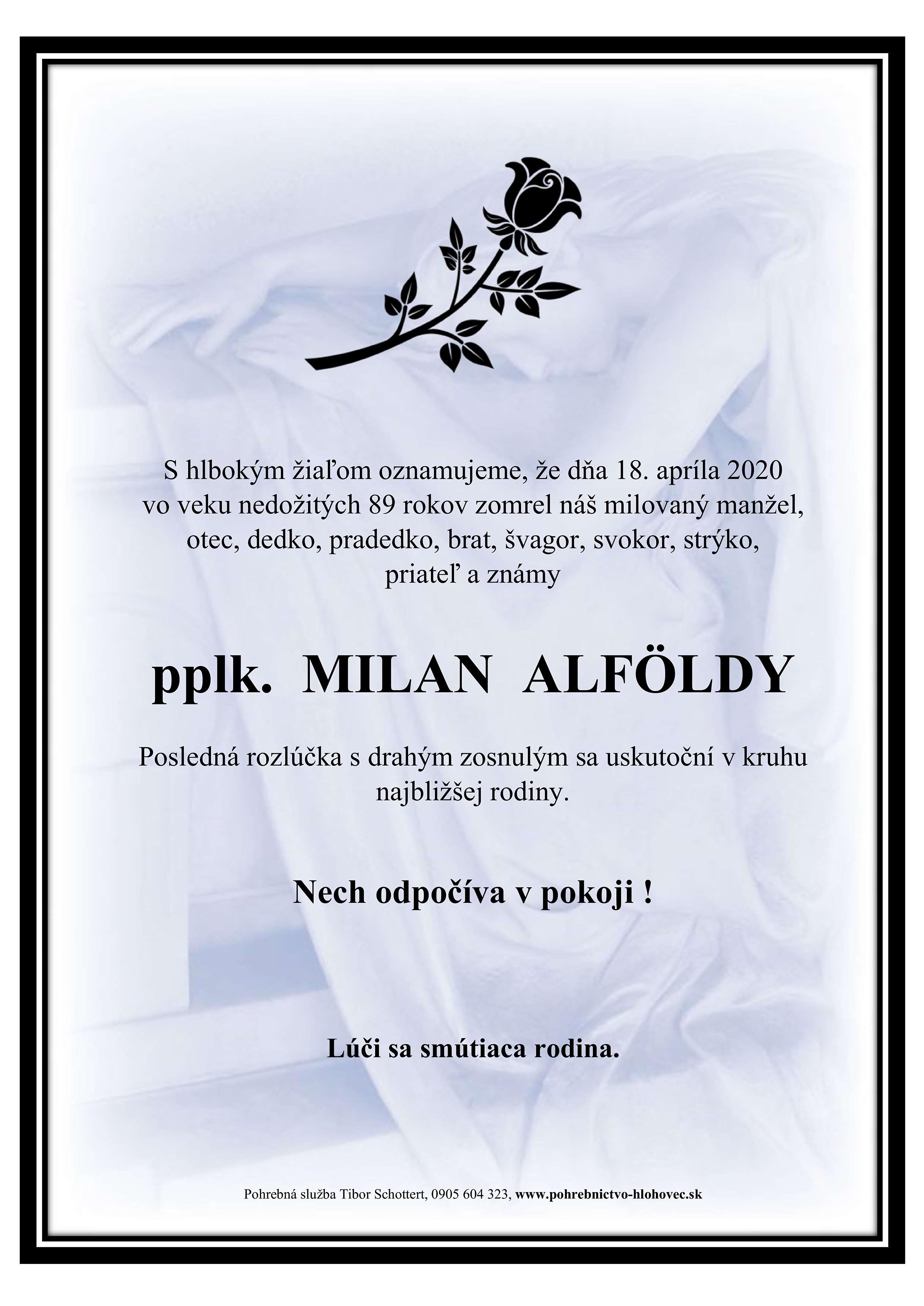 pplk. Milan Alföldy Parte