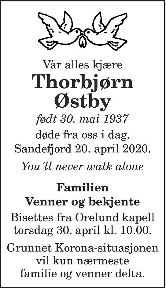 Thorbjørn Østby Dødsannonse