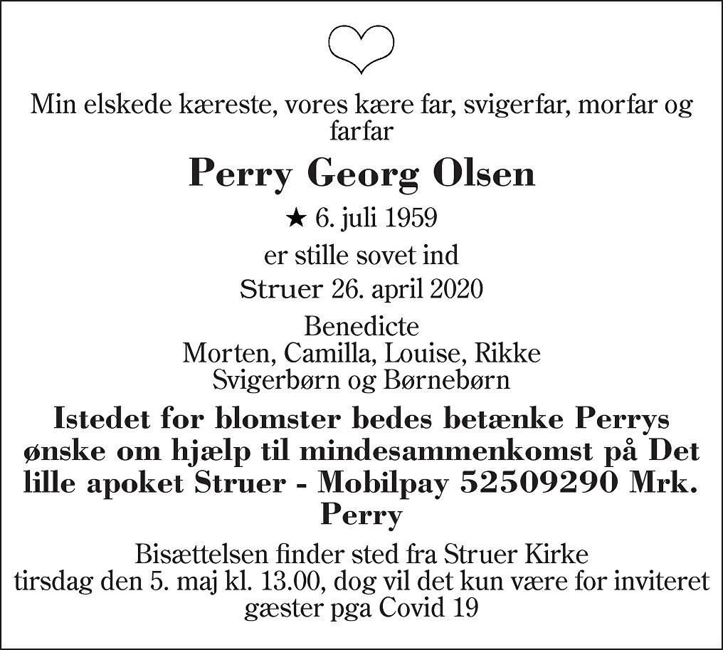 Perry Georg  Olsen Death notice