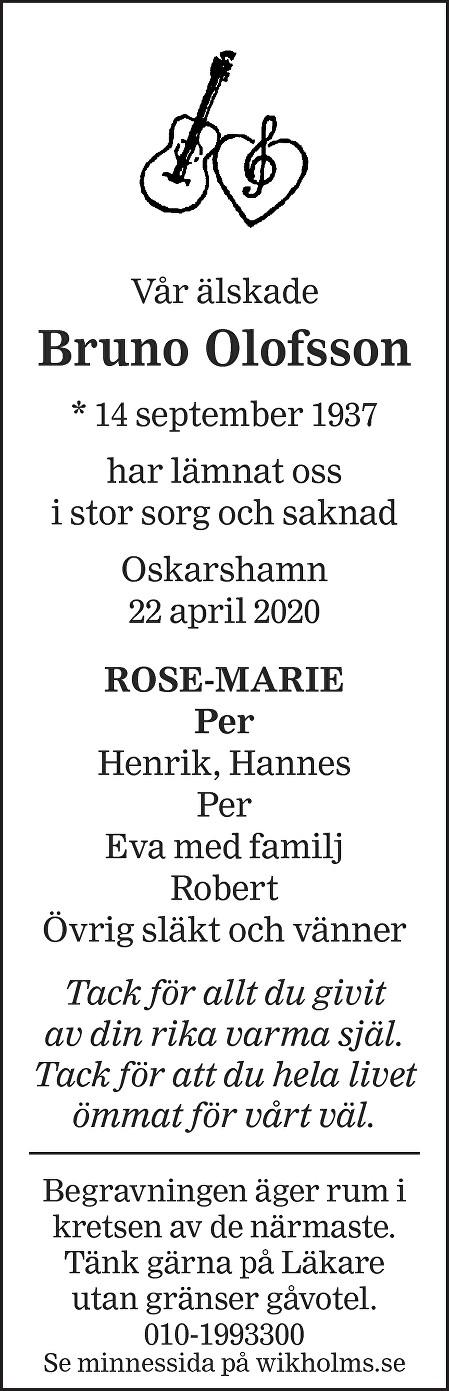 Bruno Olofsson Death notice