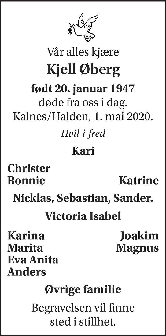 Kjell Øberg Dødsannonse