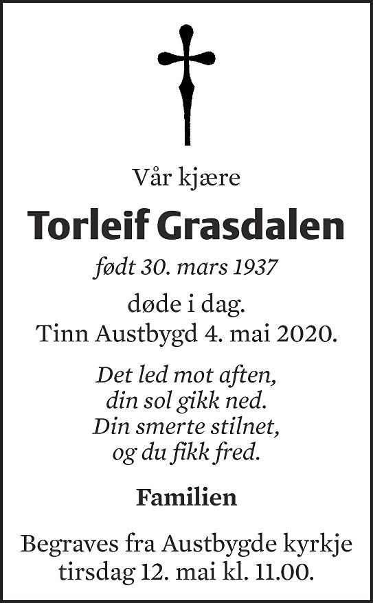 Torleif Grasdalen Dødsannonse