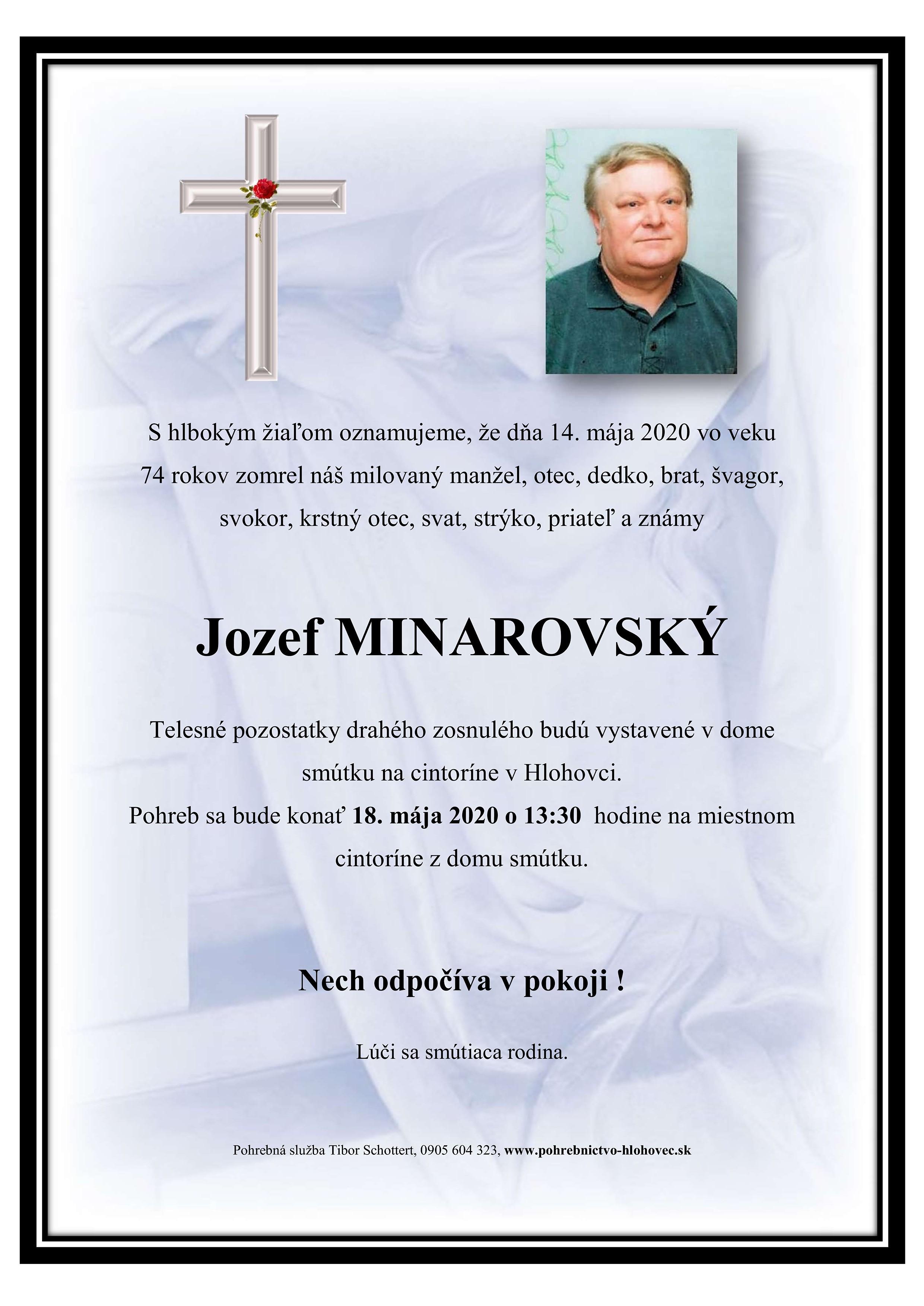 Jozef Minarovský Parte