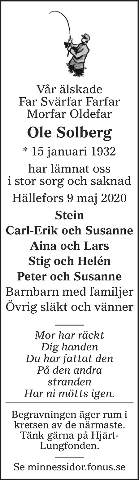 Ole Solberg Death notice