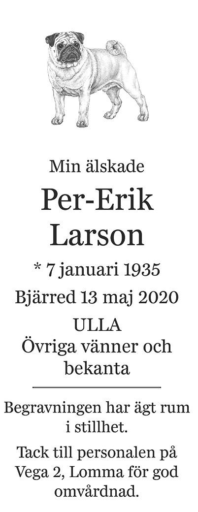 Per-Erik Larson Death notice