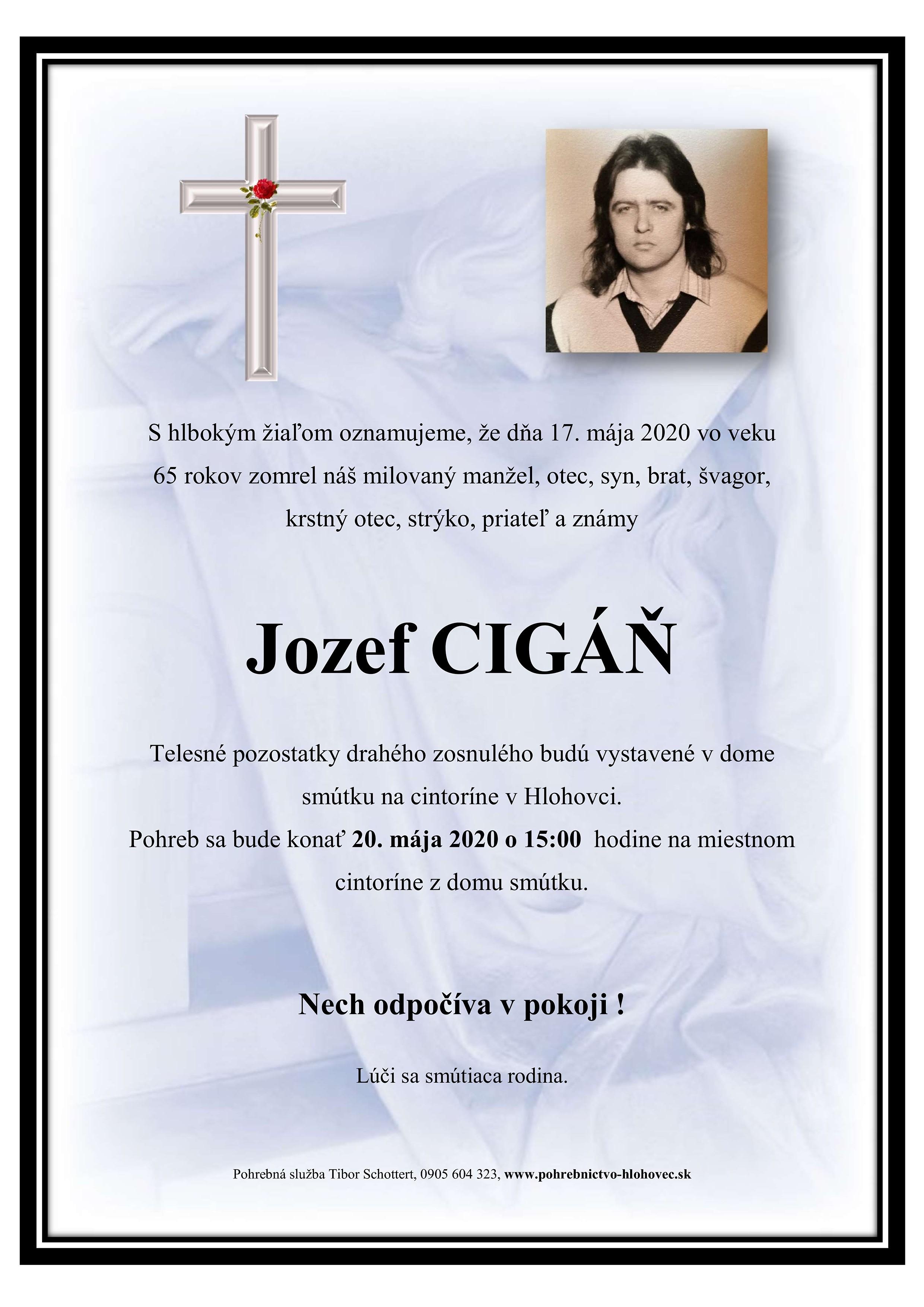 Jozef Cigáň Parte