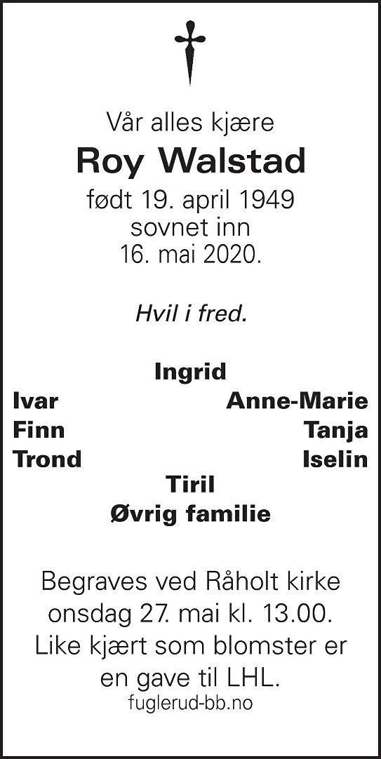 Roy Walstad Dødsannonse