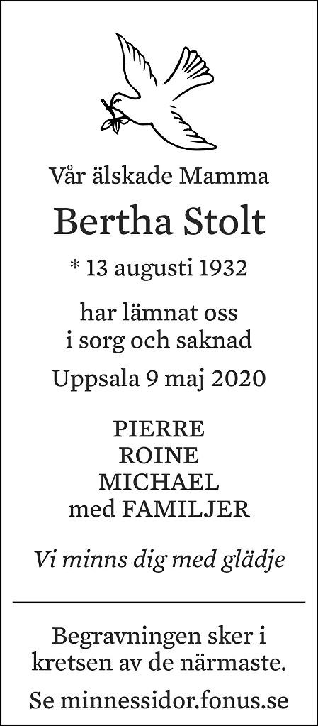 Bertha Stolt Death notice