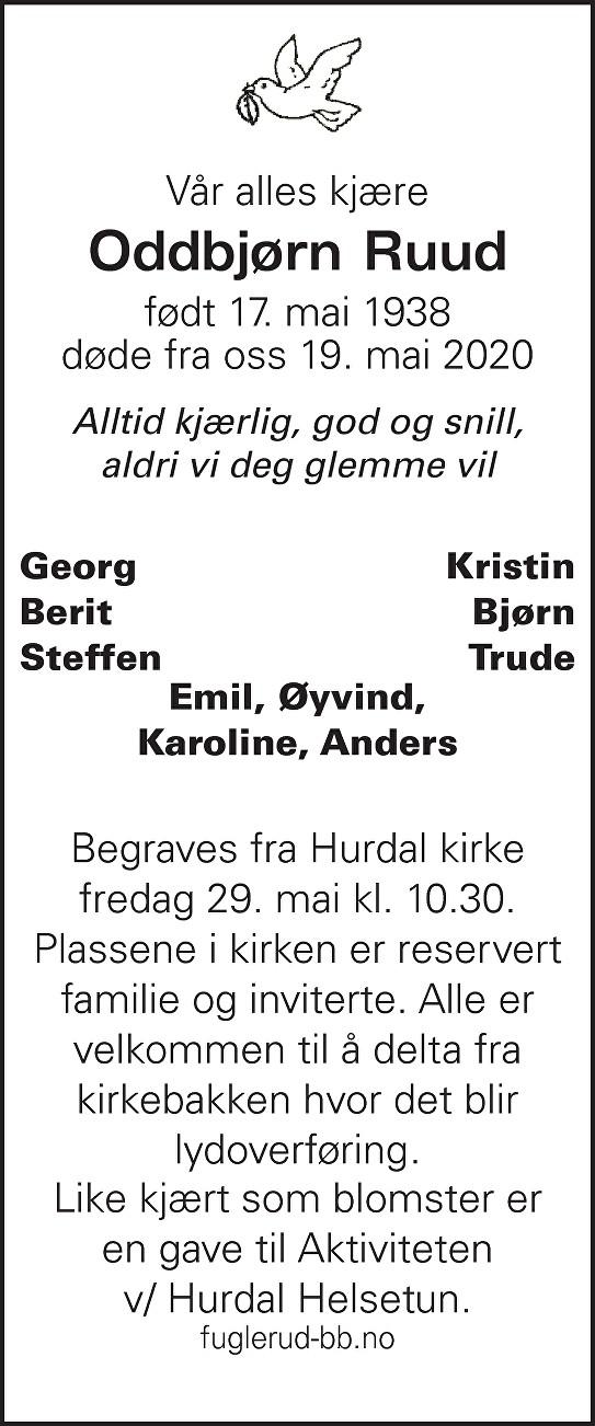 Oddbjørn Ruud Dødsannonse