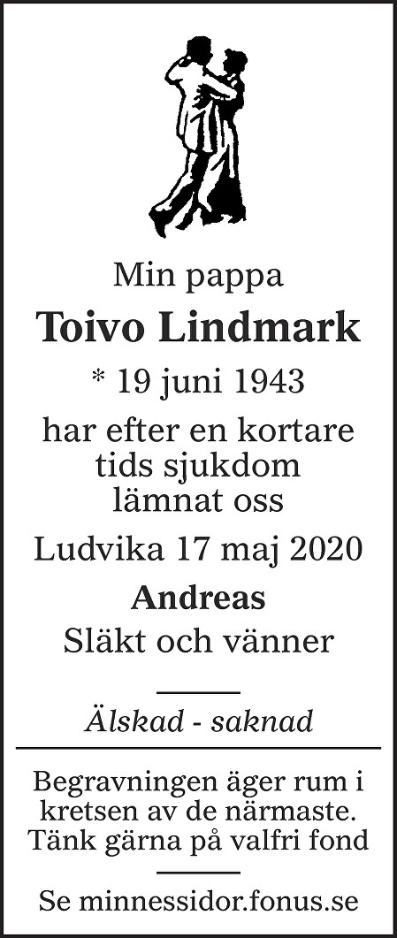 Toivo  Lindmark Death notice