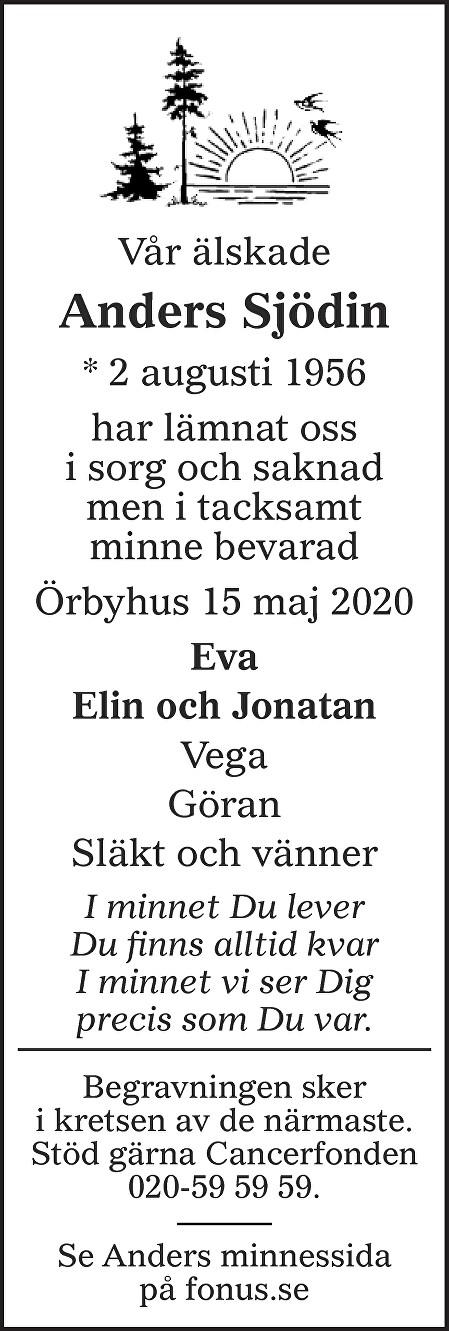 Anders Sjödin Death notice