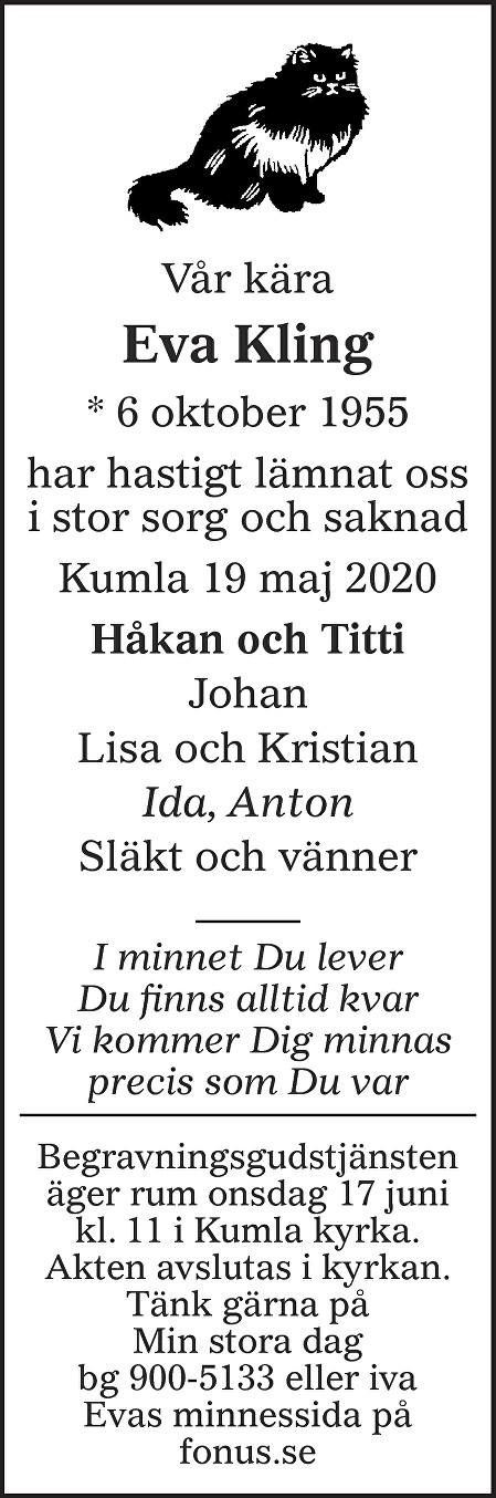 Eva Kling Death notice