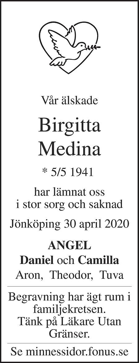 Birgitta Medina Death notice