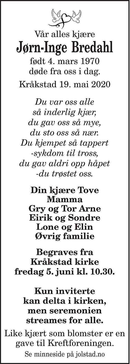 Jørn-Inge Bredahl Dødsannonse
