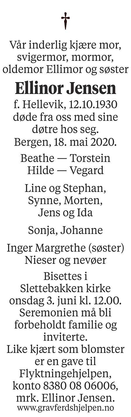 Ellinor Jensen Dødsannonse