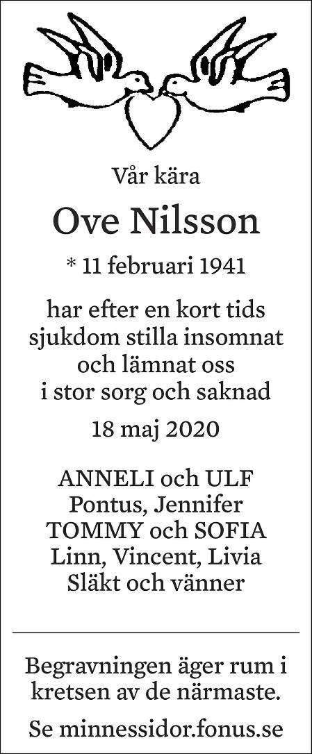 Ove Nilsson Death notice