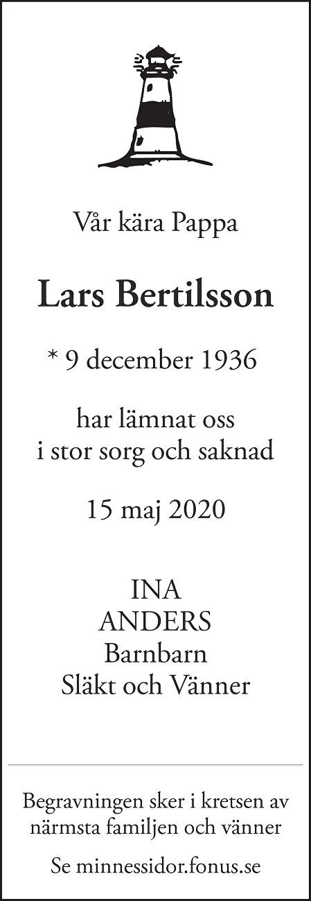 Lars  Bertilsson Death notice