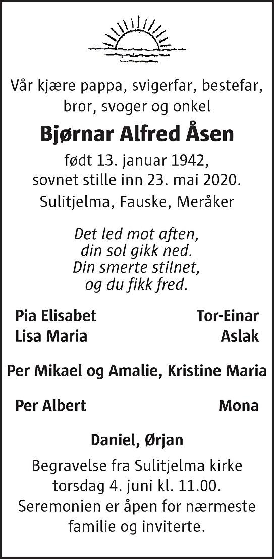 Bjørnar Alfred Åsen Dødsannonse