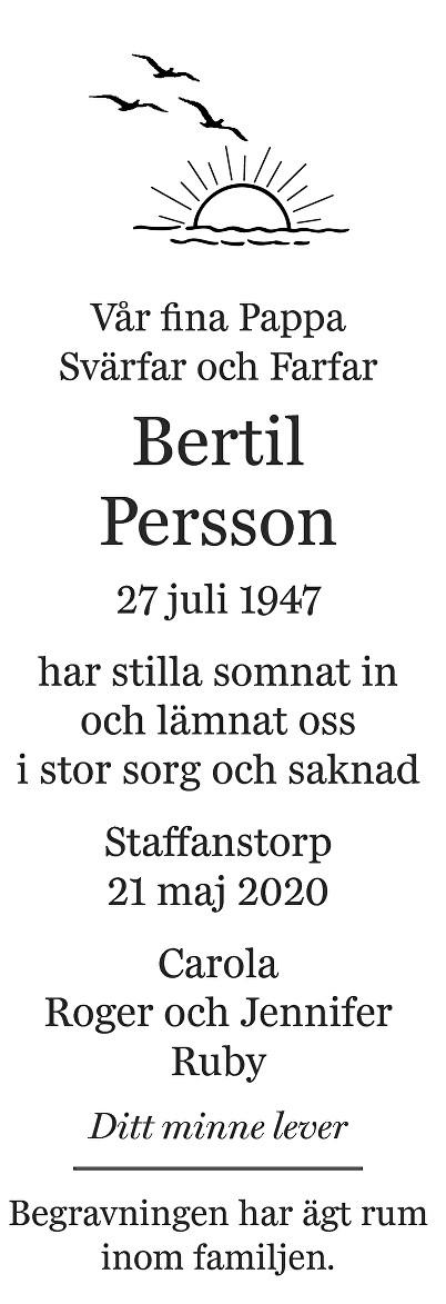 Bertil Persson Death notice
